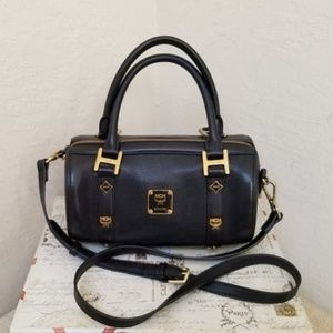 MCM Shoulder Bag Speedy Black with Sling Satchel